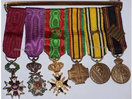 belgium ww2 order crown leopold cross pow medals wwii