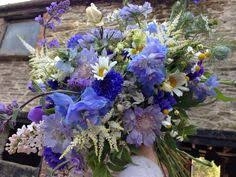 blue flowers cornish seaside inspired bouquet by the garden gate