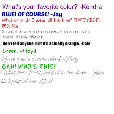26 d now we know to watch out when we say our favorite color is