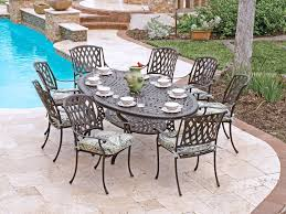 Glass Top Patio Dining Table Fabulous Oval Patio Table 42 Inch Glass Top Dining Cast Aluminum