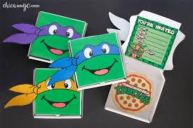 teenage mutant ninja turtles party favors invitations chica