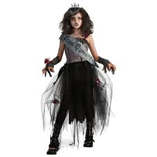 ladies scary halloween costume ideas zombie prom queen halloween costumes close girls walking zombie