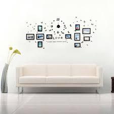 music wall decor amazon com creative wall decor collage photo frame set with clock