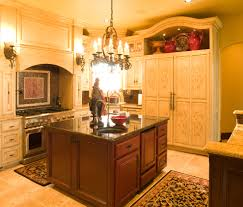 french country chandeliers kitchen traditional with bertch custom