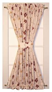 Door Panel Curtains Zoe Floral Taffeta Fabric Door Panel Curtain Door Window Curtain