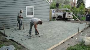 Decorative Concrete Patio Contractor How To Turn A Concrete Patio Into A Green Backyard My Home