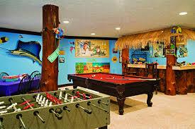 log home game room decor