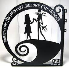 nightmare before sally hanging sign from our