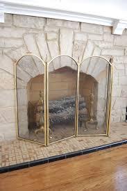 spray painted fireplace grates