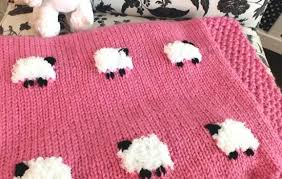 free pattern knit baby blanket how to make a cute sheep baby blanket free knitting pattern