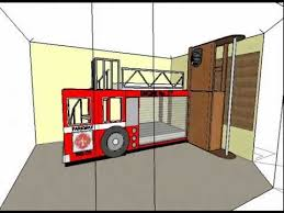 Fire Truck Bunk Bed Fire Engine Bunk Beds Animation No Sound Youtube