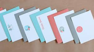 new personalized note cards stationery for couples