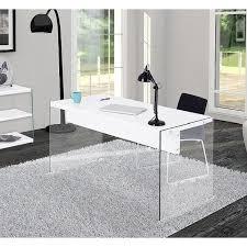 plateau verre tremp bureau orlando est un bureau pieds en verre tremp avec plateau laqu en ce