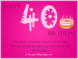 40th birthday wishes 365greetings com