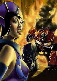 Teela And Evil Lyn - evil lyn vs optimus prime by acidlullaby on deviantart