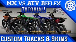 custom motocross helmet mx vs atv reflex how to get custom tracks skins u0026 gear hd