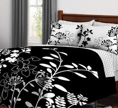 Girls Queen Comforter Black U0026 White Flower Teen Girls Queen Comforter Set 7 Piece Bed
