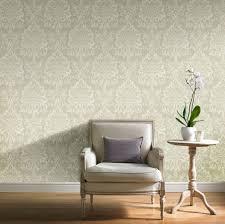 opulence green damask glitter effect wallpaper departments diy