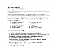 Resume Example For Medical Assistant by Medical Assistant Resume Template U2013 8 Free Word Excel Pdf