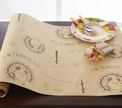 craft paper thanksgiving table runner pottery barn