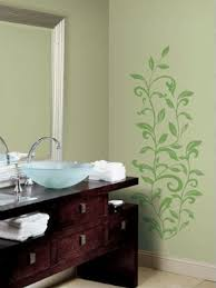 bathroom ideas for decorating with green wall paint and curtains