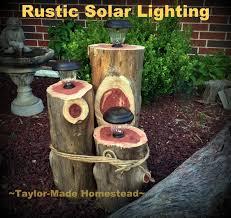 How To Make A Solar Light - how to make a rustic 3 tier cedar log solar light