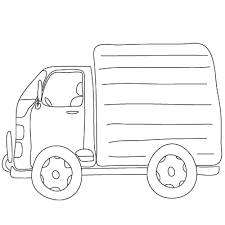 drawn vehicle truck pencil and in color drawn vehicle truck