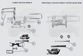 warn trans4mor winch mounting system