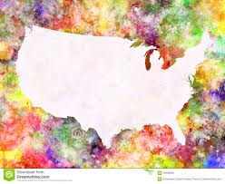 Usa World Map by World Map In Watercolor Stock Illustration Image 59586843