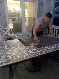 patio table with removable tiles diy tile tabletop seeking lavendar lane