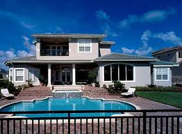 2 story house with pool plan w83382cl southern colonialwith two story balcony e
