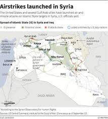 Map Of Iraq And Syria by Us Led Coalition Bombs Isis By Iraqi Syria Border Business Insider