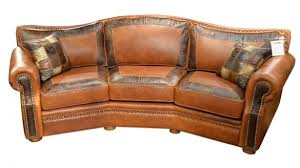 Leather Conversation Sofa Sectional Couches And Sofas Flexsteel Sectionals
