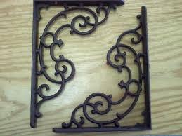 cast iron decorative bracket set of 2 udx383 vermont