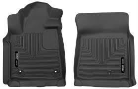 husky x act contour black rubber front floor mats 2012 2017 toyota