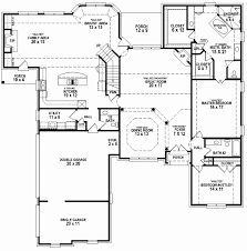 5 bedroom 3 bath floor plans luxury 4 to 5 bedroom house plans house plan