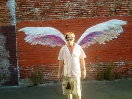 37 best street art colette miller images on pinterest angel interactive angel wing grafitti by colette miller los angeles california usa