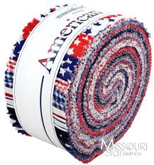 Misouri Flag American Basics Jelly Roll From Missouri Star Quilt Co For Flag