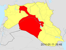 Islamic State Territory Map by Progress Of Isis Controlled Territory Since January 2014 As