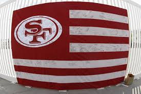 Flag With Red Circle 49ers Unveil The Faithful Flag