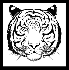 coloring page tiger face kids drawing and coloring pages marisa