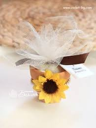 sunflower wedding favors sunflower wedding favors with personalized tag set of 24 mint