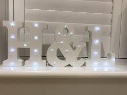 white light up letters h l white led light up letters wedding in ashford surrey gumtree