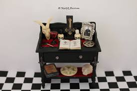 dollhouse miniature satanic aleister crowley inspired altar zoom