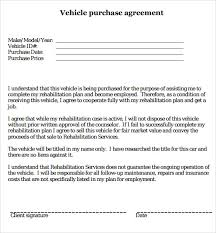 sample vehicle purchase agreement free vehicle bill of sale the