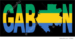 Gabon Map Gabon Text With Map Stock Illustration I1776810 At Featurepics