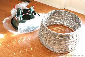 diy basket tree skirt in my own style