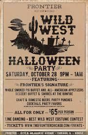 halloween party events wild west halloween party frontier