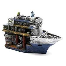 decoration for aquarium sunken cruise ship fish tank decor