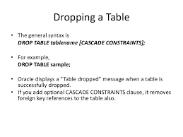 Oracle Drop Table If Exists Ddl Data Defination Language Using Oracle